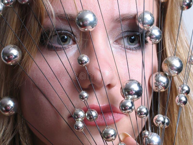 Download Kvinna arkivfoto. Bild av framsida, detaljer, closeup, kanter - 501416