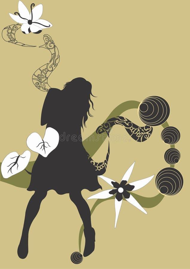 Download Kvinna stock illustrationer. Illustration av kvinna, diagram - 516902