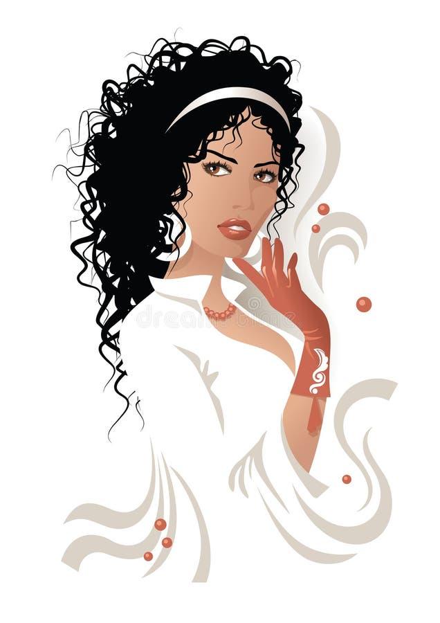 kvinna vektor illustrationer