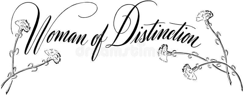 Kvinna av skillnad royaltyfri illustrationer