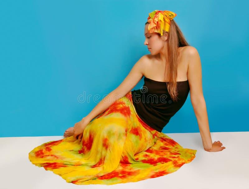 kvinna för 3 sarong royaltyfri bild