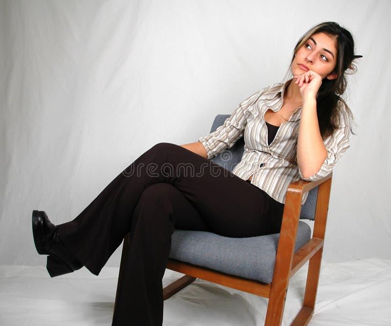 kvinna för 6 affär arkivfoto