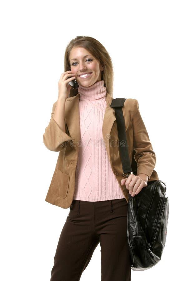kvinna för affärscelltelefon royaltyfri foto