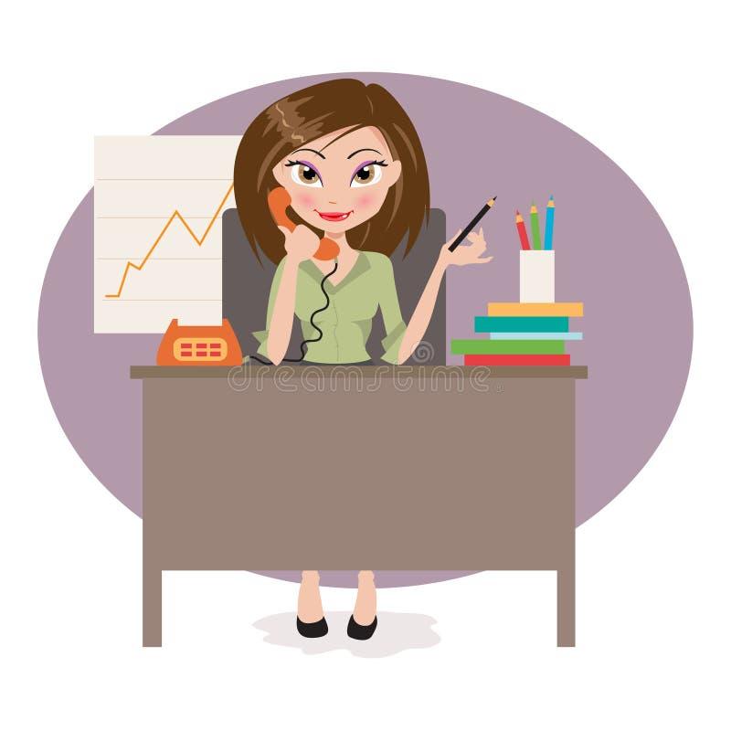 kvinna för affärskontor vektor illustrationer