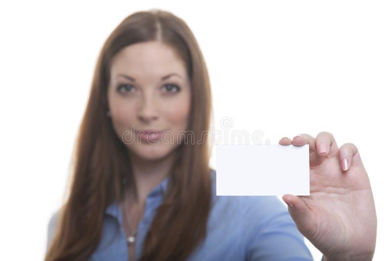 kvinna för affärskort royaltyfria foton
