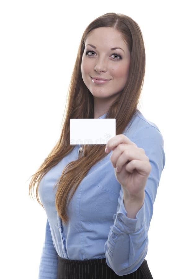 kvinna för affärskort arkivbild