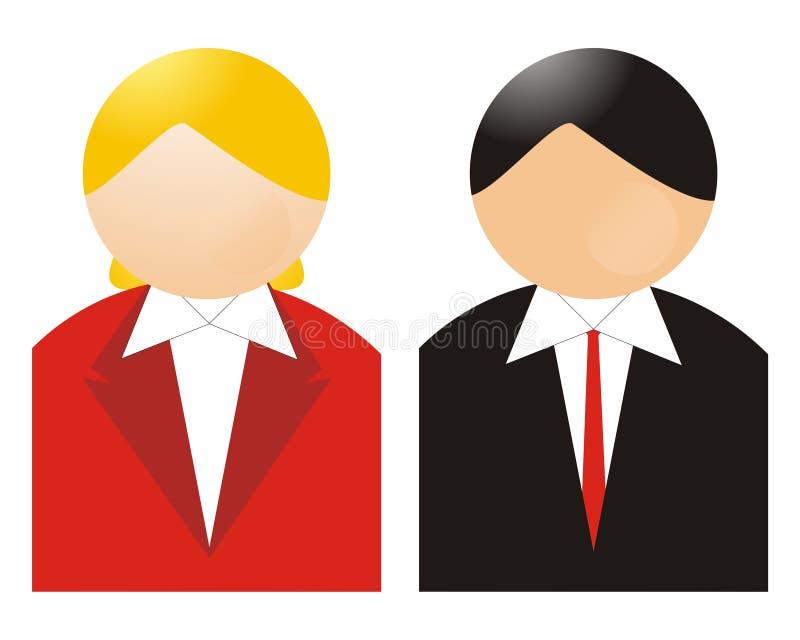kvinna för affärsman royaltyfri illustrationer