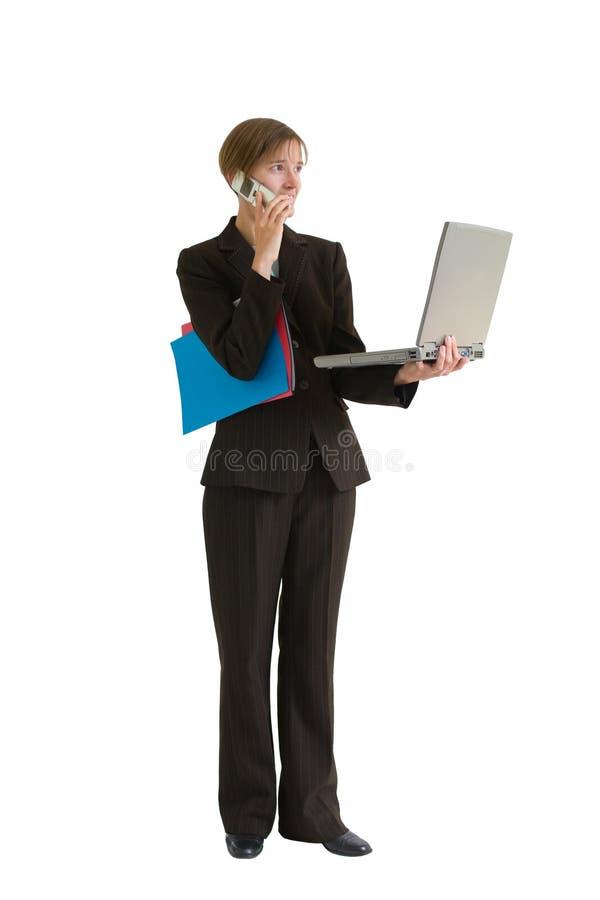kvinna för affärsprojecserie royaltyfri fotografi