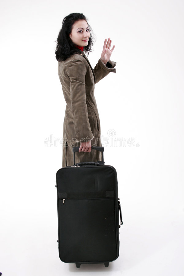 kvinna för affärstur royaltyfri bild