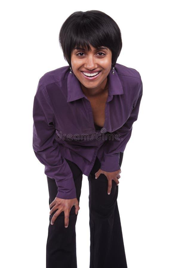 kvinna för blandad race arkivfoto