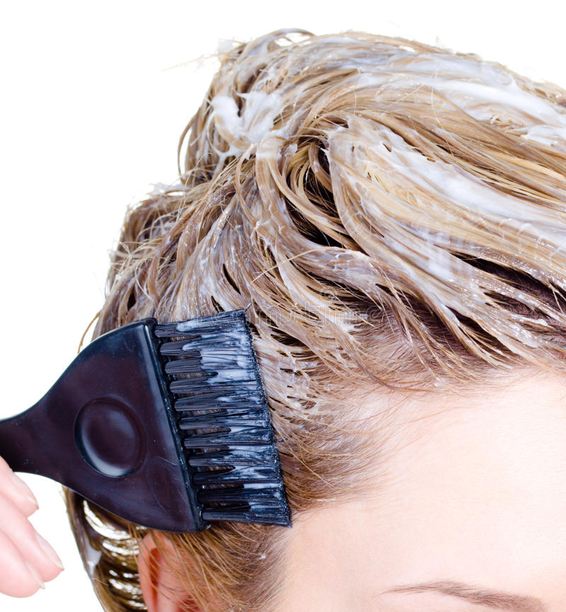 kvinna för färgläggningfragmenthuvud s arkivfoton