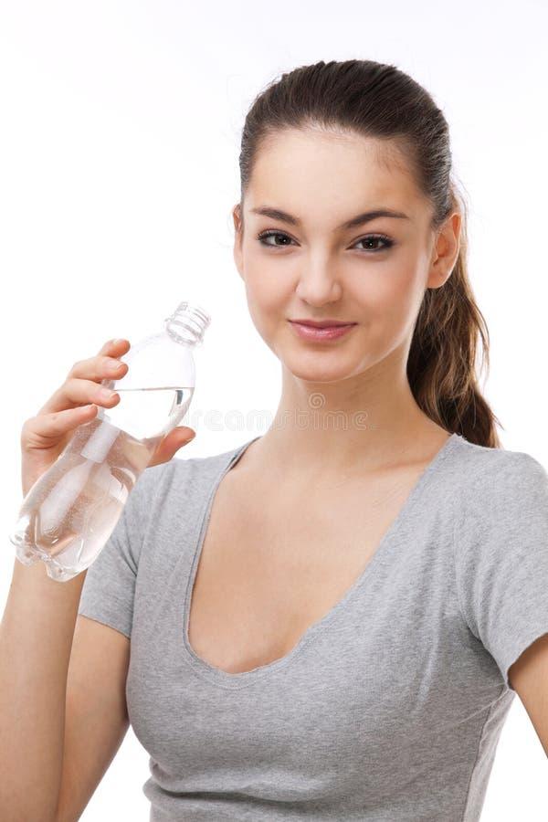 kvinna för flaskvatten royaltyfria foton