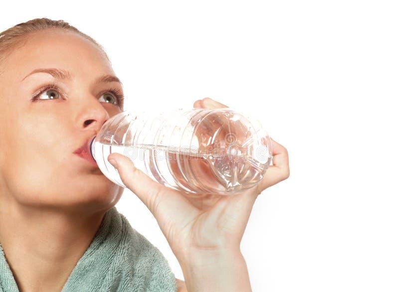 kvinna för flaskvatten royaltyfri bild