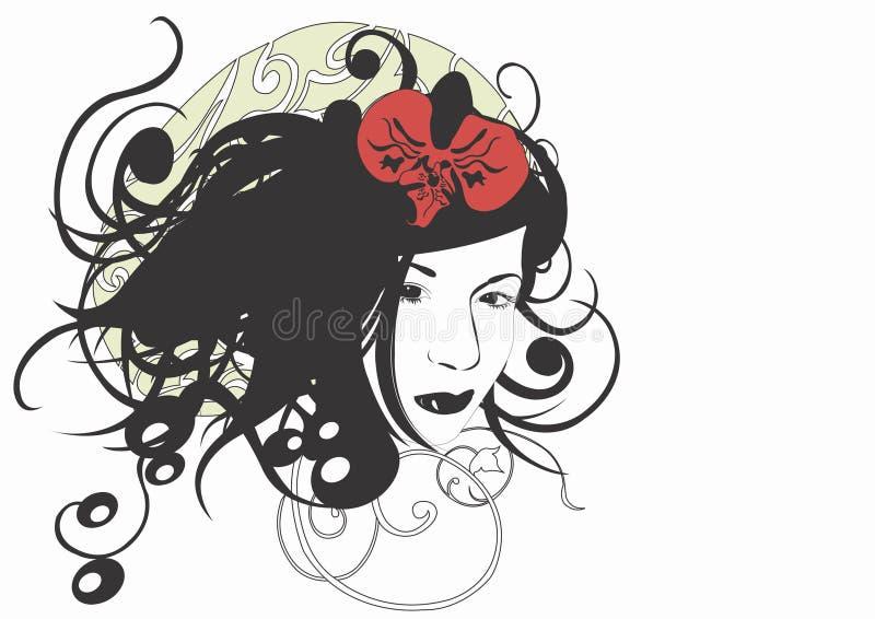 kvinna för framsida s royaltyfri illustrationer
