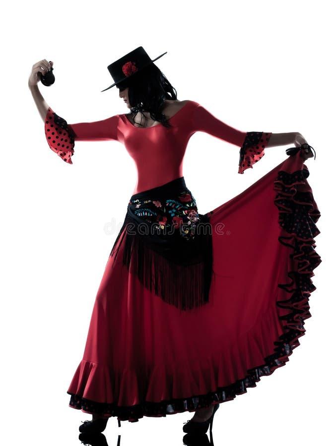 kvinna för gipsy för dansaredansflamenco royaltyfri fotografi