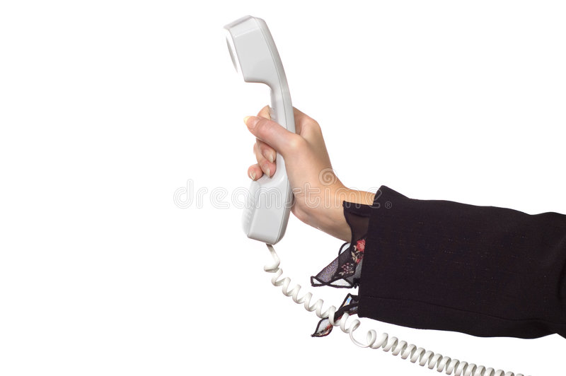kvinna för handtelefonmottagare s arkivfoton