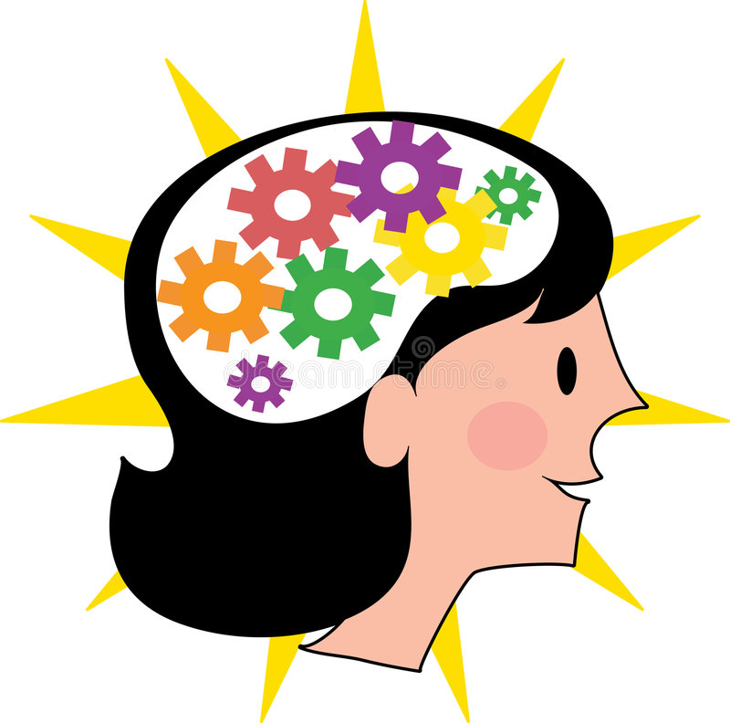 kvinna för hjärna s