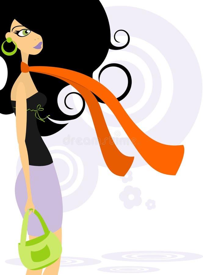 kvinna för innegrej 2 royaltyfri illustrationer