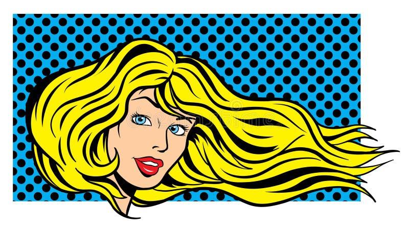 kvinna för konstillustrationpop