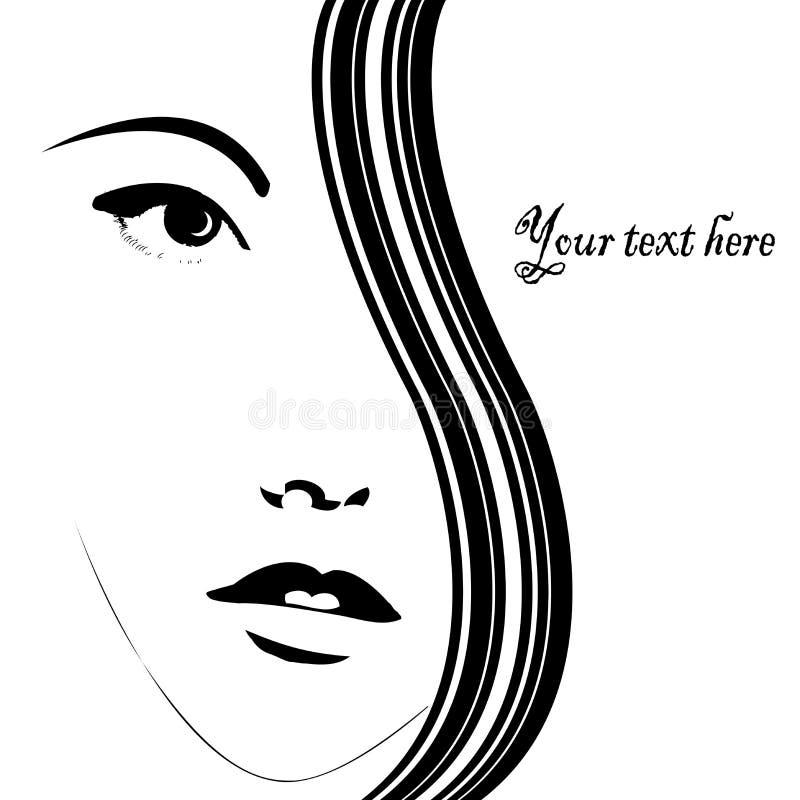 kvinna för kortframsida vektor illustrationer