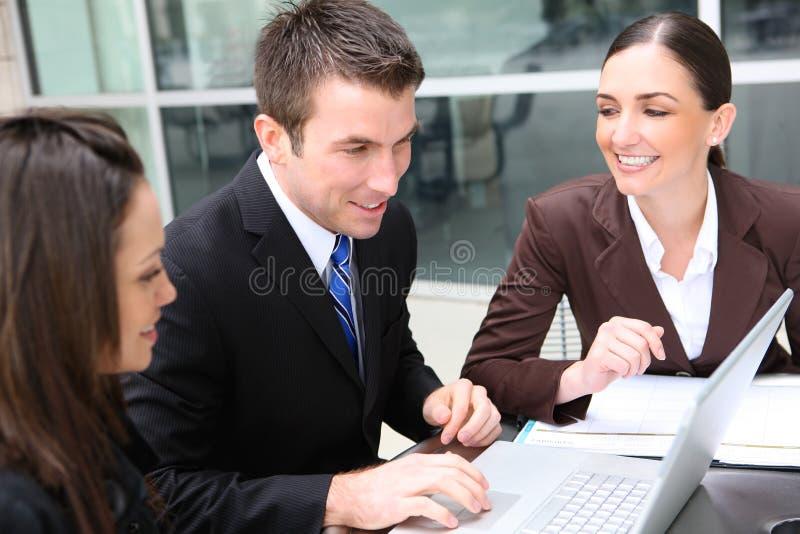 kvinna för lag för affärsman arkivbild