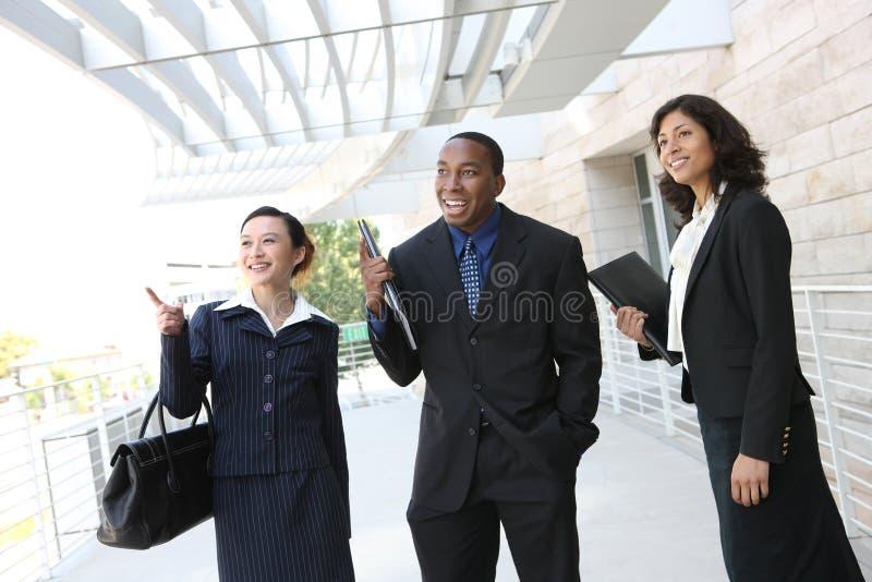 kvinna för lag för affärsman royaltyfria foton