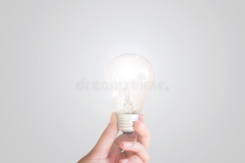 kvinna för lampa för kulahandholding arkivfoto