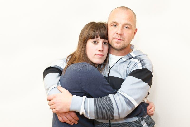 kvinna för man för par älska tillsammans royaltyfria bilder