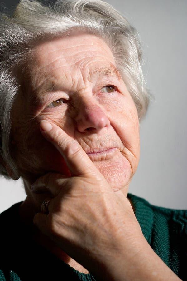 kvinna för pensionär iii royaltyfri fotografi