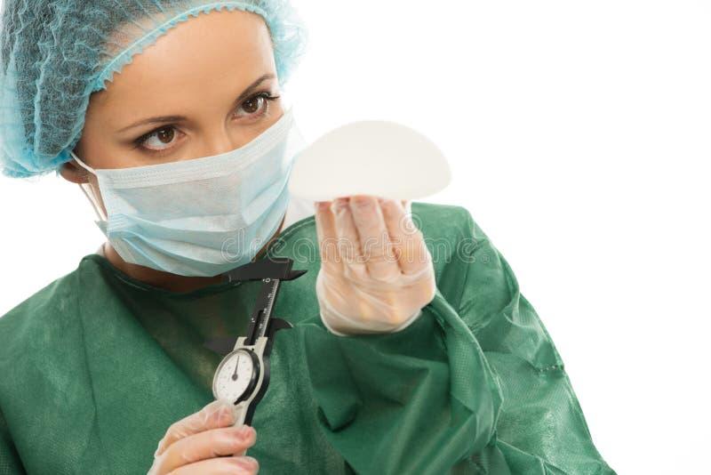 Kvinna för plast- kirurg royaltyfri fotografi