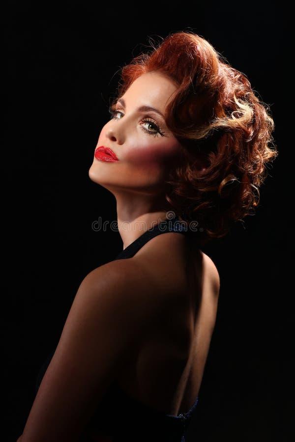 Kvinna För Redaktörs- Mode För Begrepp Hög Royaltyfria Foton