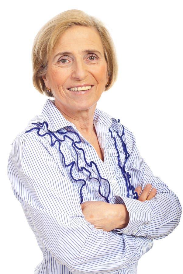 kvinna för skönhetståendepensionär royaltyfri bild