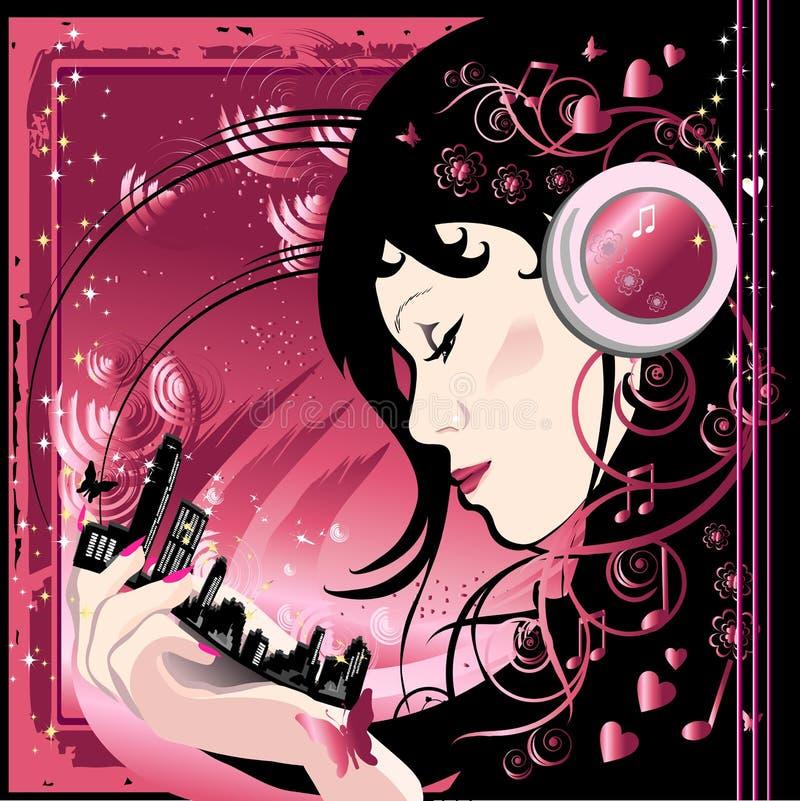 kvinna för storstadhand s stock illustrationer