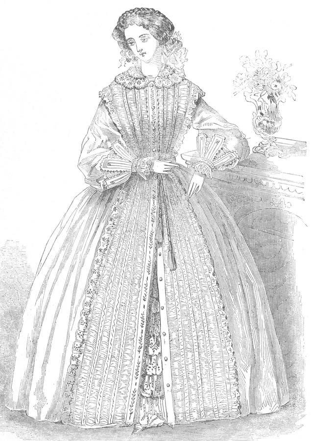 kvinna för tappning för modeillustration s royaltyfri illustrationer