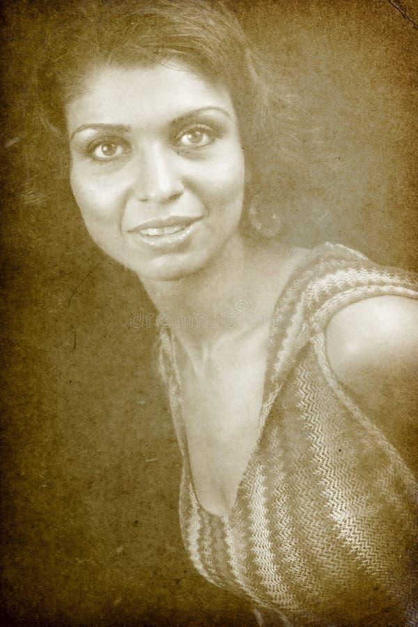 kvinna för tappning för stående för classic en retro arkivfoton