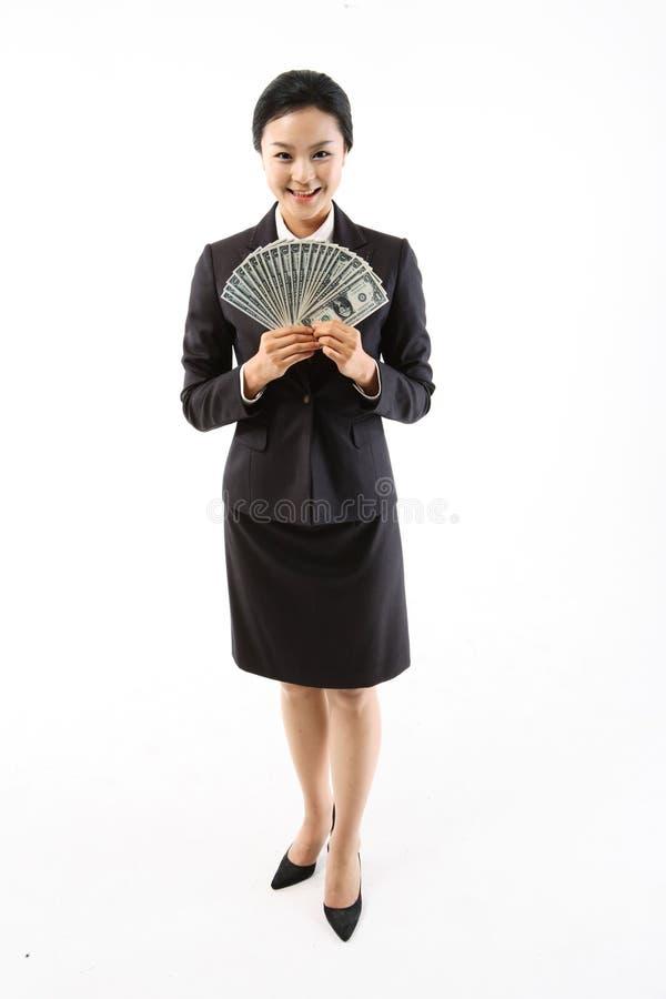 Kvinna i affär III arkivfoton