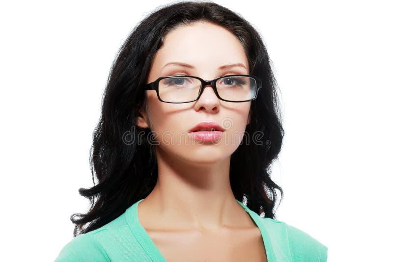 Kvinna i exponeringsglas royaltyfri foto