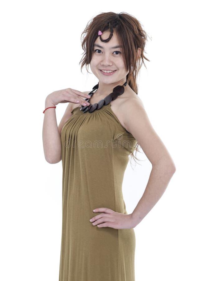 Kvinna i kjol royaltyfria bilder