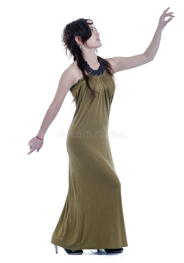 Kvinna i kjol royaltyfri foto