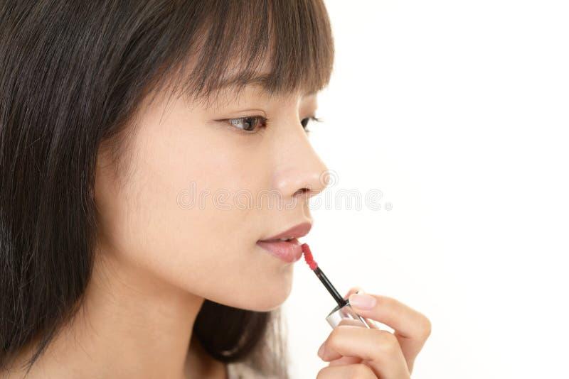 Kvinna i makeup arkivfoton