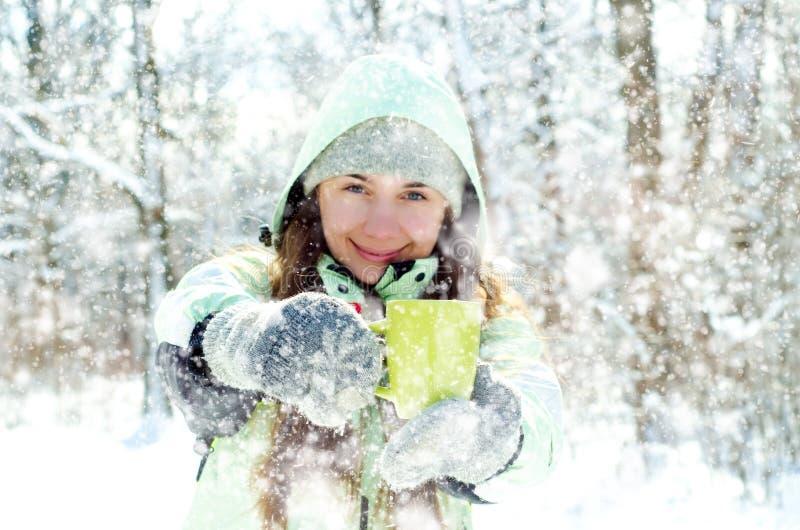 Download Kvinna i vinter fotografering för bildbyråer. Bild av frost - 37344493