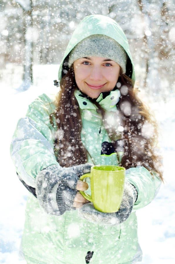 Download Kvinna i vinter fotografering för bildbyråer. Bild av handskar - 37346829