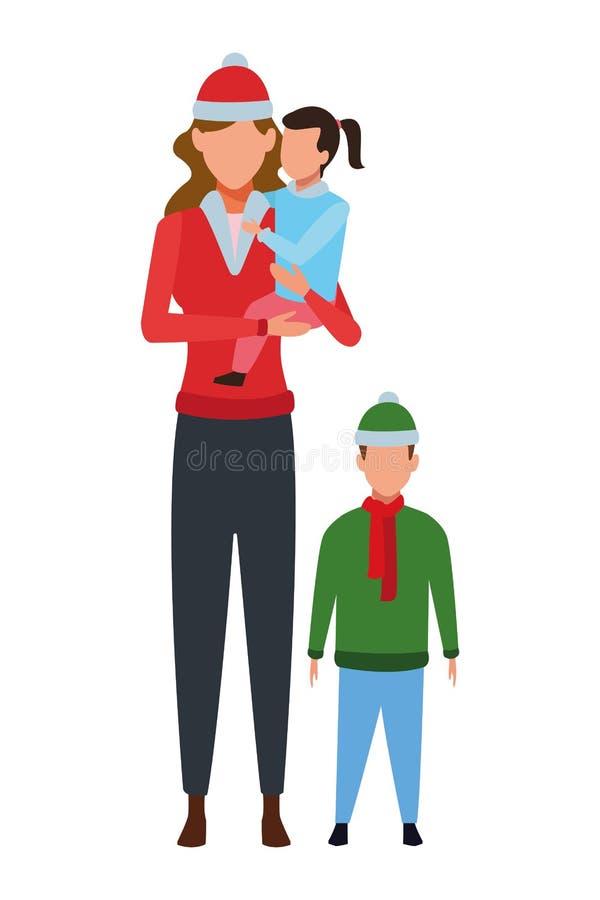 Kvinna med barn royaltyfri illustrationer
