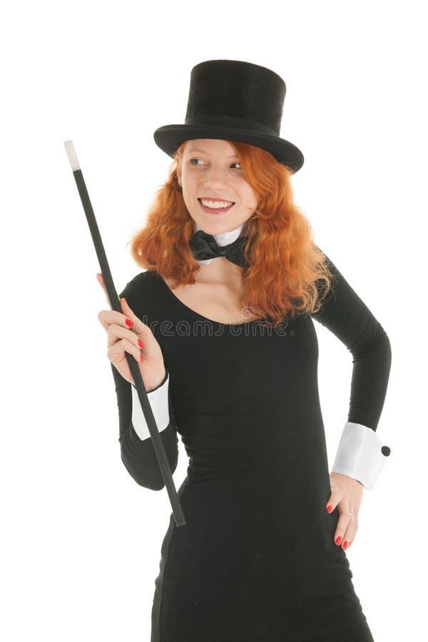 Kvinna med den svarta hatten för parti arkivfoton