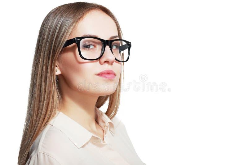 Kvinna med exponeringsglas royaltyfri fotografi