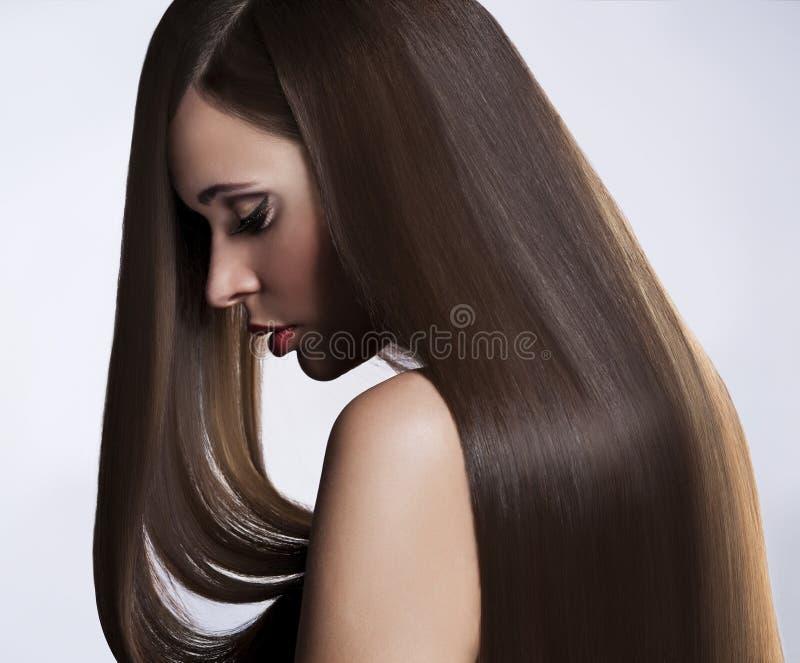 Kvinna med långt hår royaltyfri bild