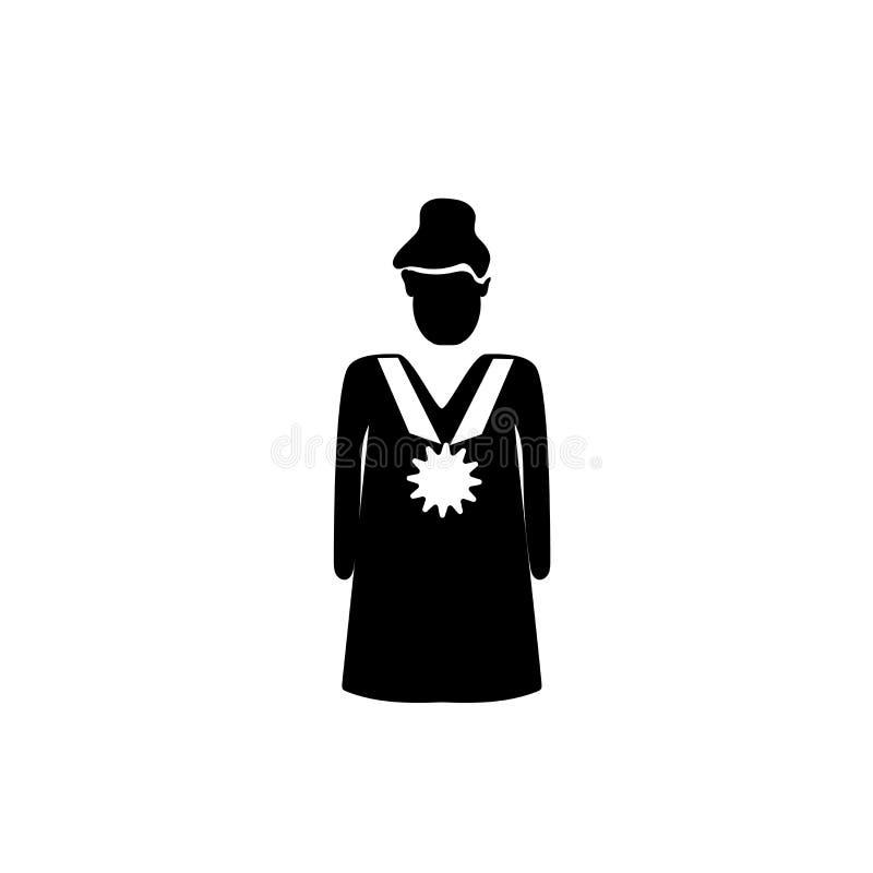 Kvinna med medaljsymbolsvektorn som isoleras på vit bakgrund, kvinna med medaljtecknet, affärsillustrationer royaltyfri illustrationer