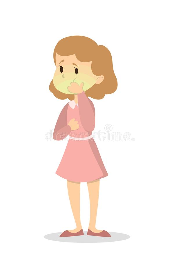 Kvinna med svindel stock illustrationer