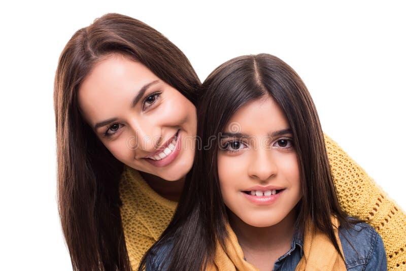 Kvinna och liten flicka royaltyfri fotografi