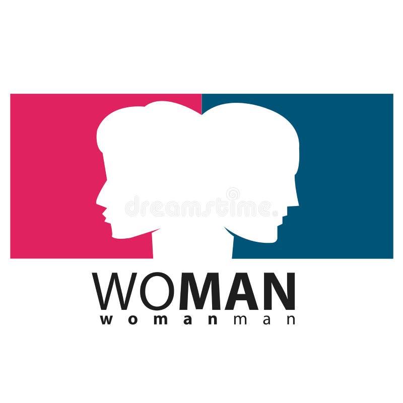 Kvinna och man royaltyfria foton